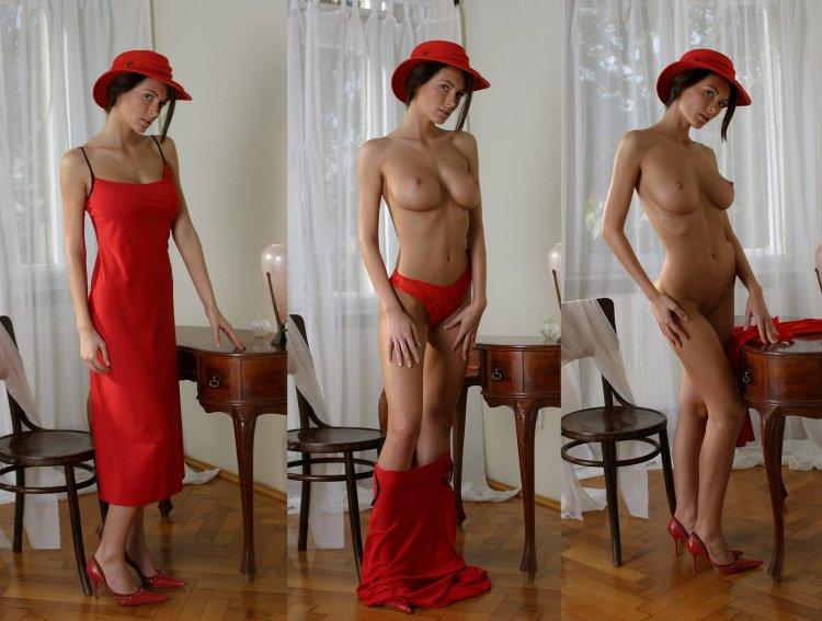 Полуголые голые бабы в платьях (77 фото)